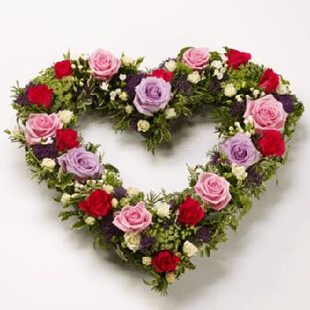 Get Your Sympathetic Heart Flower Arrangement at Precious Petals Flower Shop in Dublin