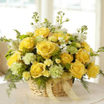 Sympathy Basket by Precious Petals Florists