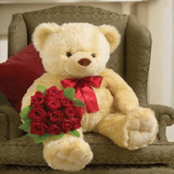 Get Your Bear Hug & Kisses Flower Arrangement at Precious Petals Flower Shop in Dublin