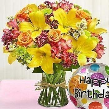 Get Your Birthday Wish Flower Arrangement at Precious Petals Flower Shop in Dublin