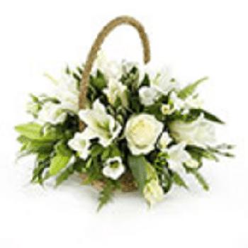 Funeral Basket by Precious Petals Florists