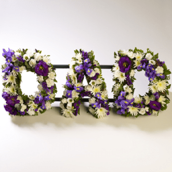 Funeral Flowers Letters A-Z by Precious Petals Florists