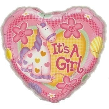 It's A Girl Balloon - Precious Petals Florists