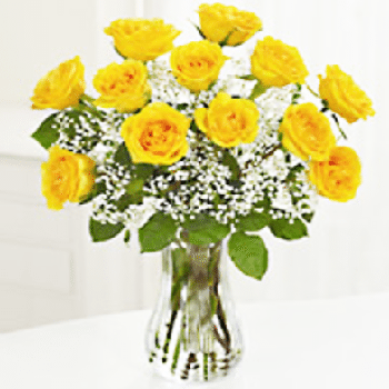 One Dozen Yellow Roses - Precious Petals Florists