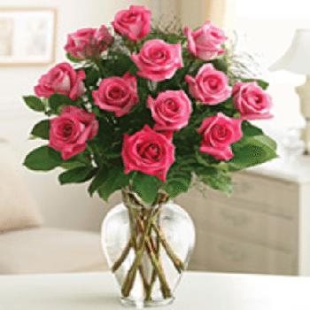 Get Your Pink Roses Roses Flower Arrangement at Precious Petals Flower Shop in Dublin