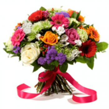 Get Rainbow Flower Arrangement at Precious Petals Flower Shop in Dublin