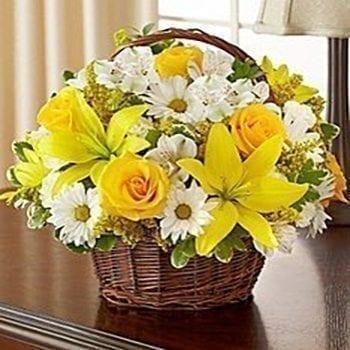 Get Precious Basket Flower Arrangement at Precious Petals Flower Shop in Dublin