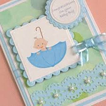 Handmade Baby Boy Greeting Card - Precious Petals Florists