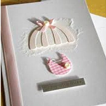 Handmade Baby Girl Greeting Card - Precious Petals Florists
