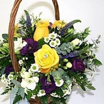 Bens Basket by Precious Petals Florists