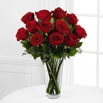 12 Luxury Red Roses - Precious Petals Florists