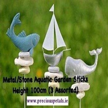 Metal Aquatic Sticks - Precious Petals Florists