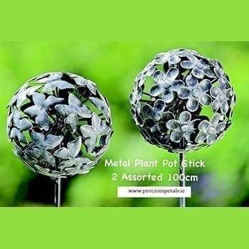 Metal Globe Stick - Precious Petals Florists
